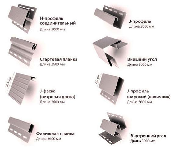 фасонные элементы (планки) для монтажа цокольных пластиковых панелей