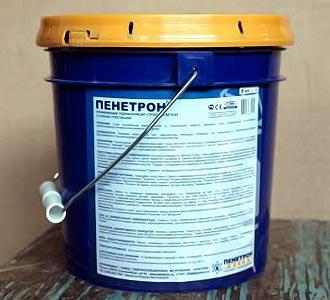гидроизоляция фундамента пенетроном