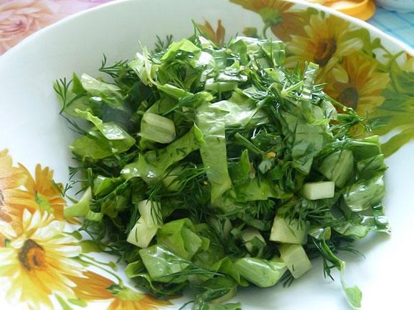 Салат из кипрея