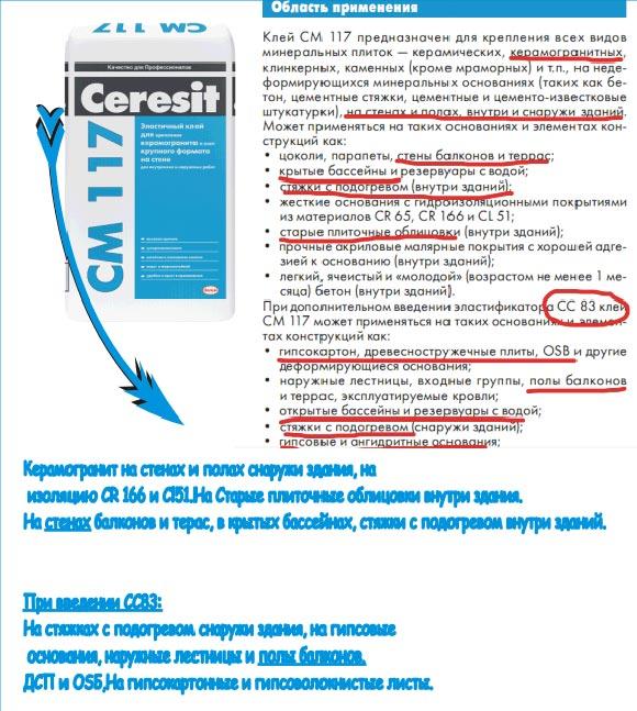 клей для цокольной пленки Ceresit СМ17