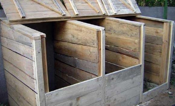 деревянный ящик для компоста