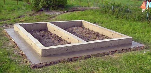 ленточный фундамент под баню