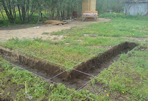 Вырыть траншею проектной глубины и ширины