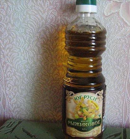 масло рыжиковое, пищевое, нерафинированное