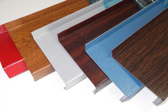 Стальные фасадные отливы с полимерной пленкой
