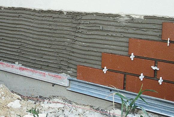 Технология укладки на фасад клинкерной плитки