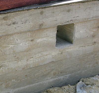 квадратные продухи в фундаменте