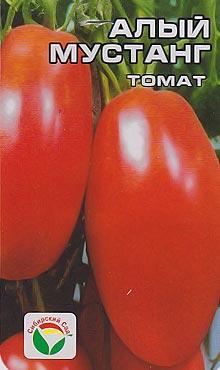 Индетерминантный сорт самоопыляемых томатов Алый мустанг