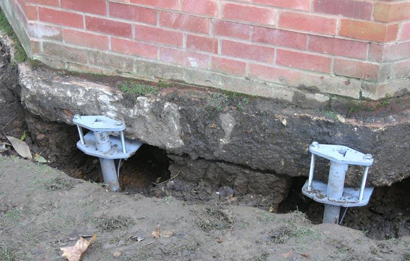 ремонт фундамента на сваях