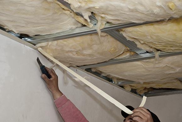 утепление потолка подвала минватой