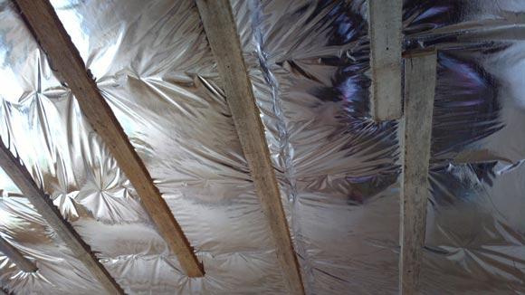 защита минваты от намокания на потолке в подвале