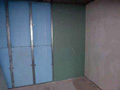 утепления стен подвала пенополисиролом изнутри каркасным методом