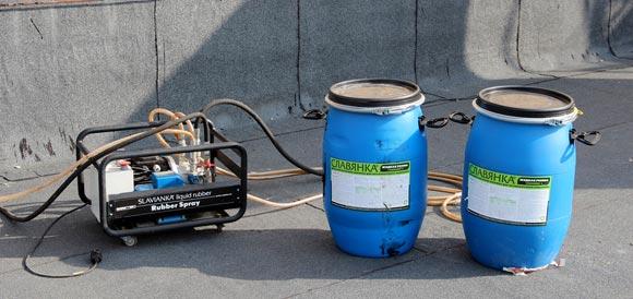 установки RX-27 для гидроизоляции подвалов жидкой резиной