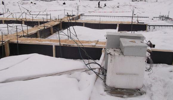 прогрев бетона электродами зимой