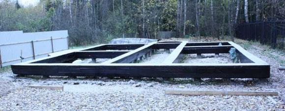 Возведение бетонного монолитного ростверка зимой